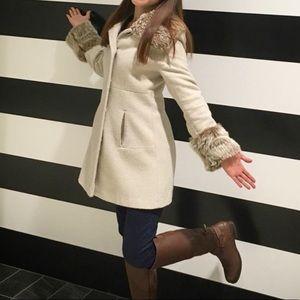 Miss Selfridge Peter Pan Faux Fur Coat